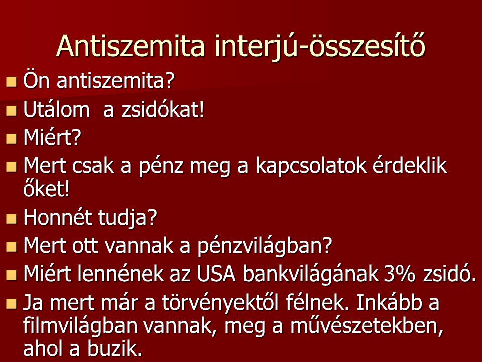 Antiszemita interjú-összesítő