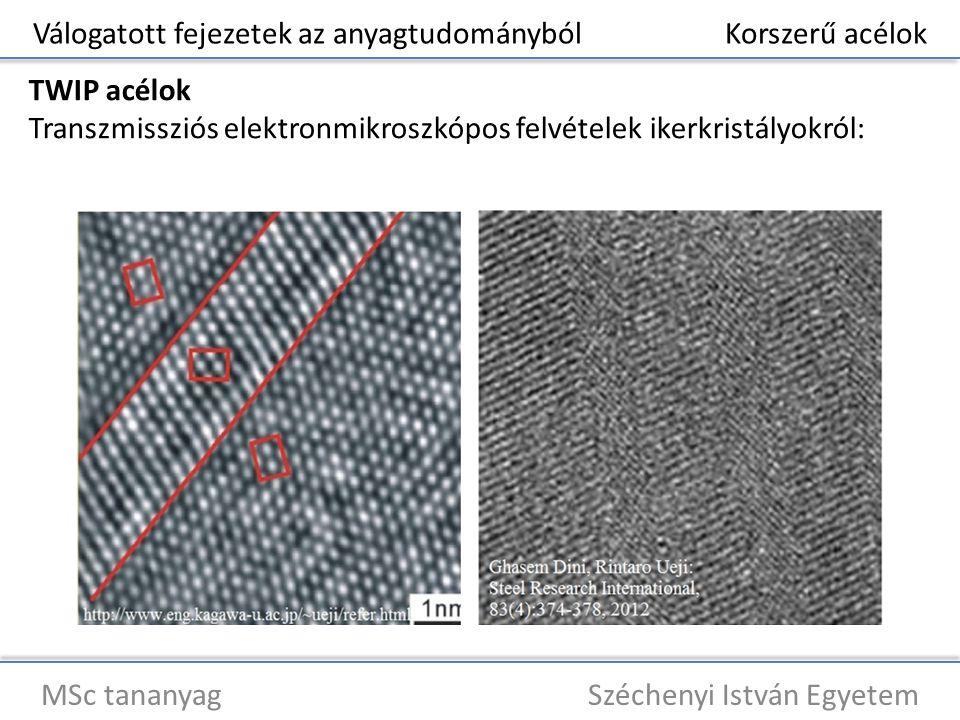 Válogatott fejezetek az anyagtudományból Korszerű acélok