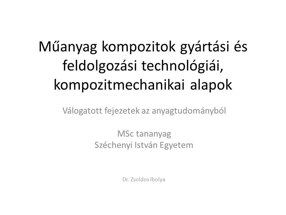Műanyag kompozitok gyártási és feldolgozási technológiái, kompozitmechanikai alapok