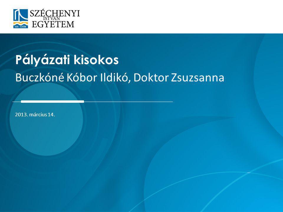 Buczkóné Kóbor Ildikó, Doktor Zsuzsanna