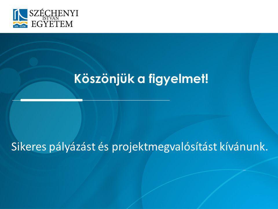 Sikeres pályázást és projektmegvalósítást kívánunk.