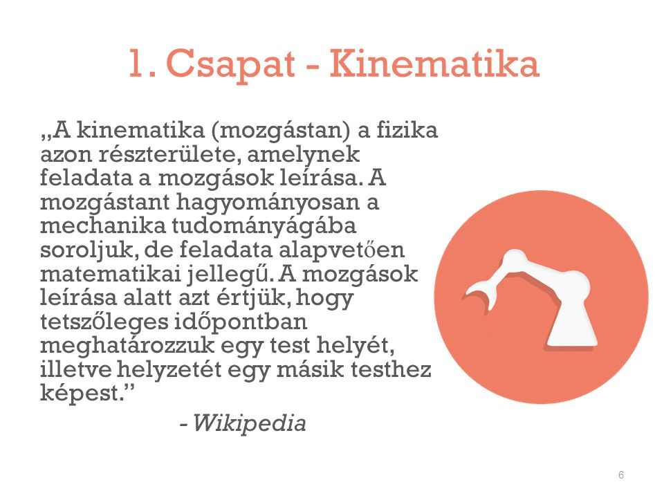 1. Csapat - Kinematika