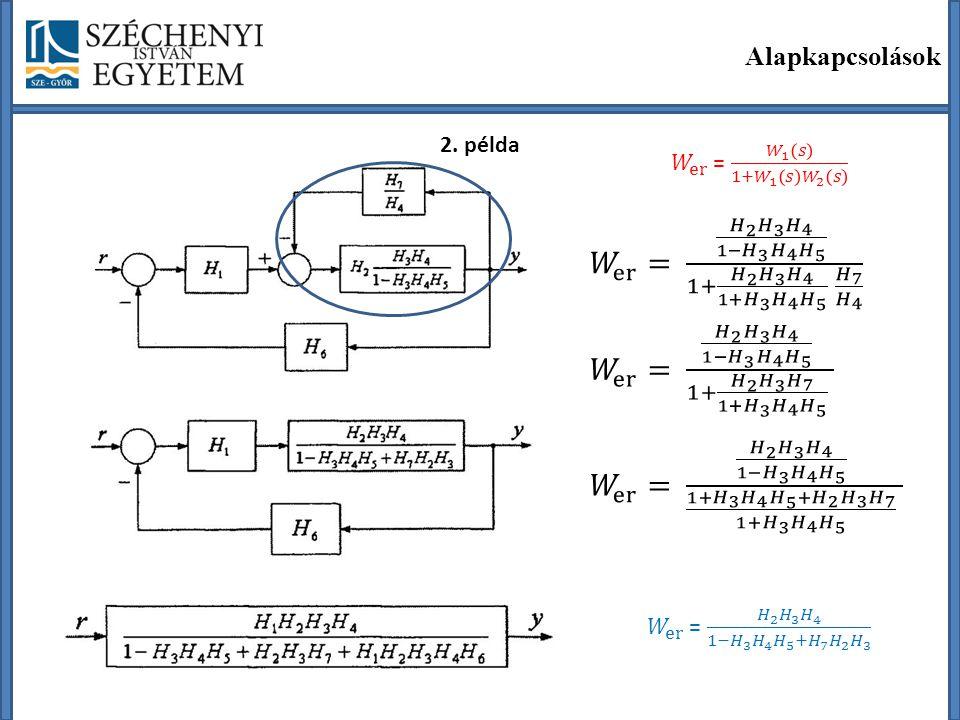 Alapkapcsolások 2. példa. 𝑊 er = 𝑊 1 𝑠 1+ 𝑊 1 𝑠 𝑊 2 𝑠.