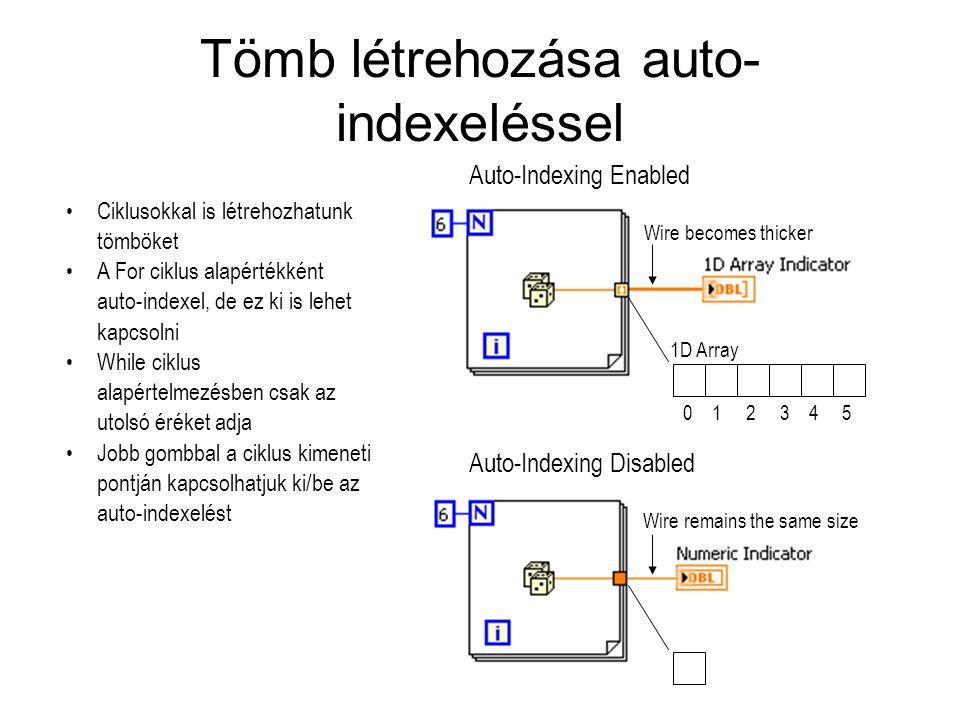 Tömb létrehozása auto-indexeléssel