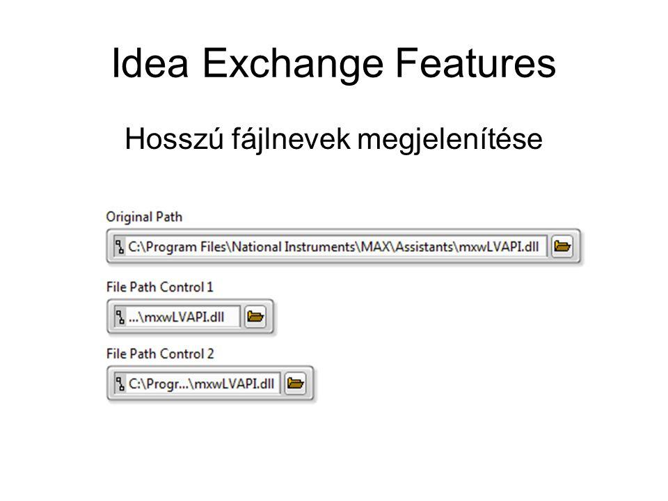 Idea Exchange Features