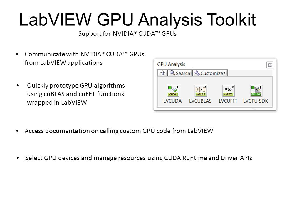 LabVIEW GPU Analysis Toolkit