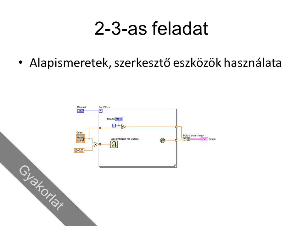 2-3-as feladat Alapismeretek, szerkesztő eszközök használata Gyakorlat