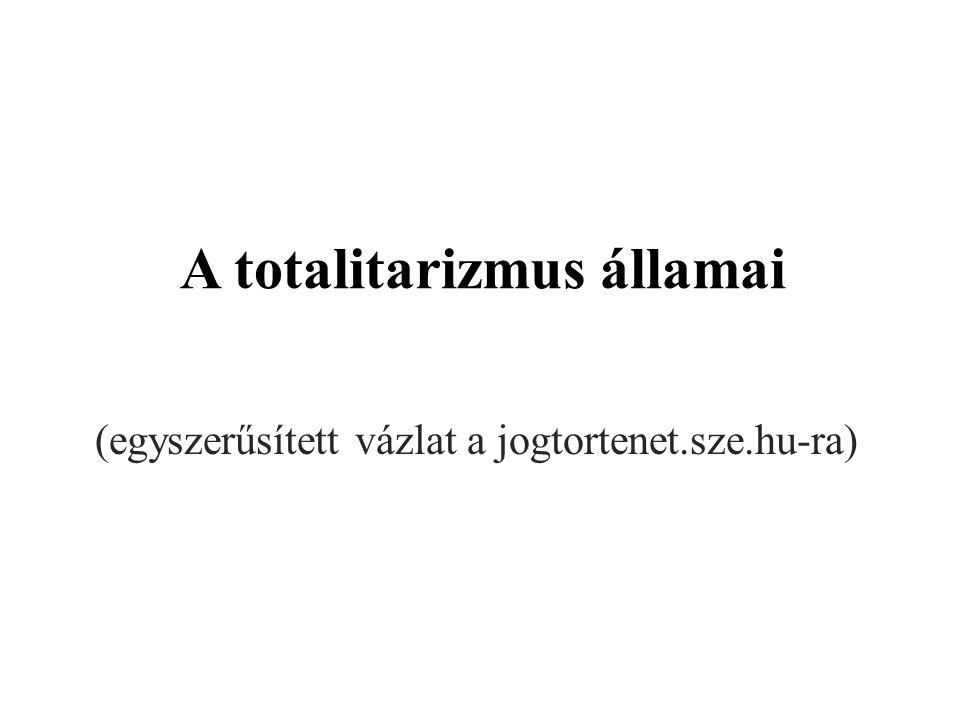 A totalitarizmus államai