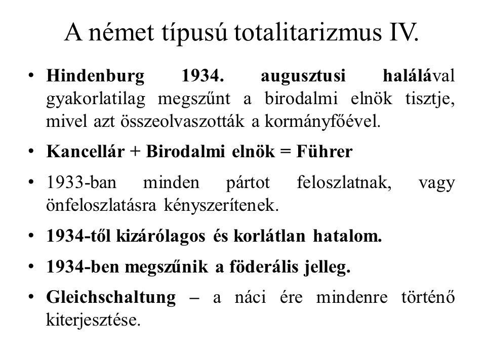 A német típusú totalitarizmus IV.