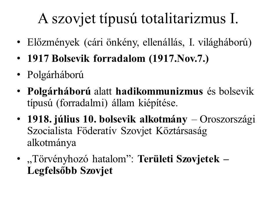 A szovjet típusú totalitarizmus I.