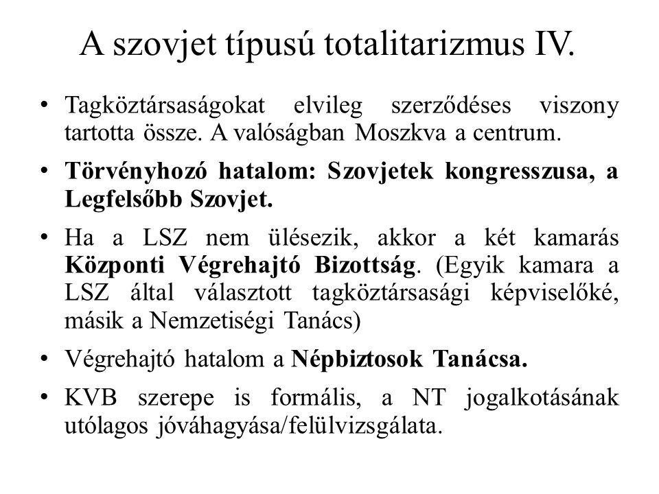 A szovjet típusú totalitarizmus IV.