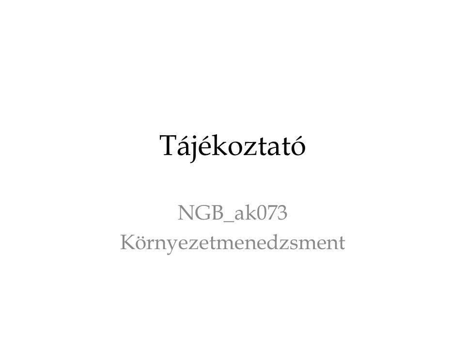 NGB_ak073 Környezetmenedzsment