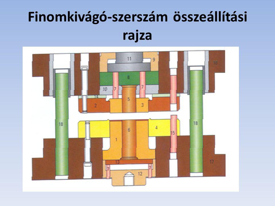 Finomkivágó-szerszám összeállítási rajza