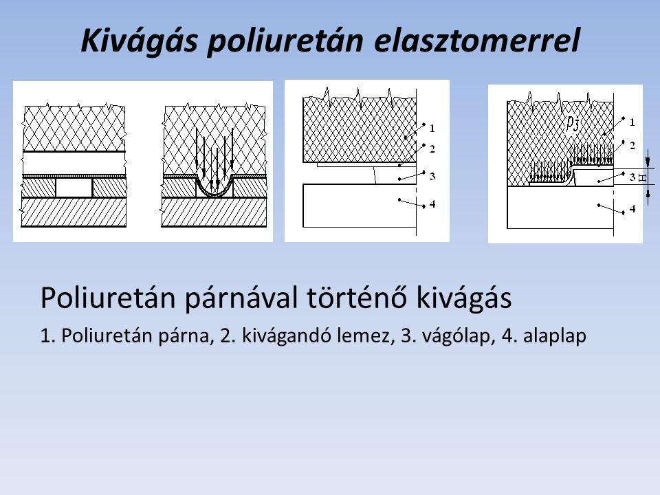Kivágás poliuretán elasztomerrel