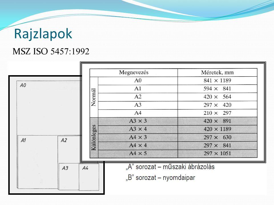 Rajzlapok MSZ ISO 5457:1992