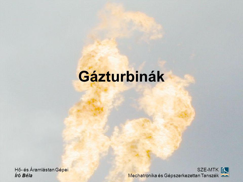Gázturbinák Hő- és Áramlástan Gépei Író Béla SZE-MTK