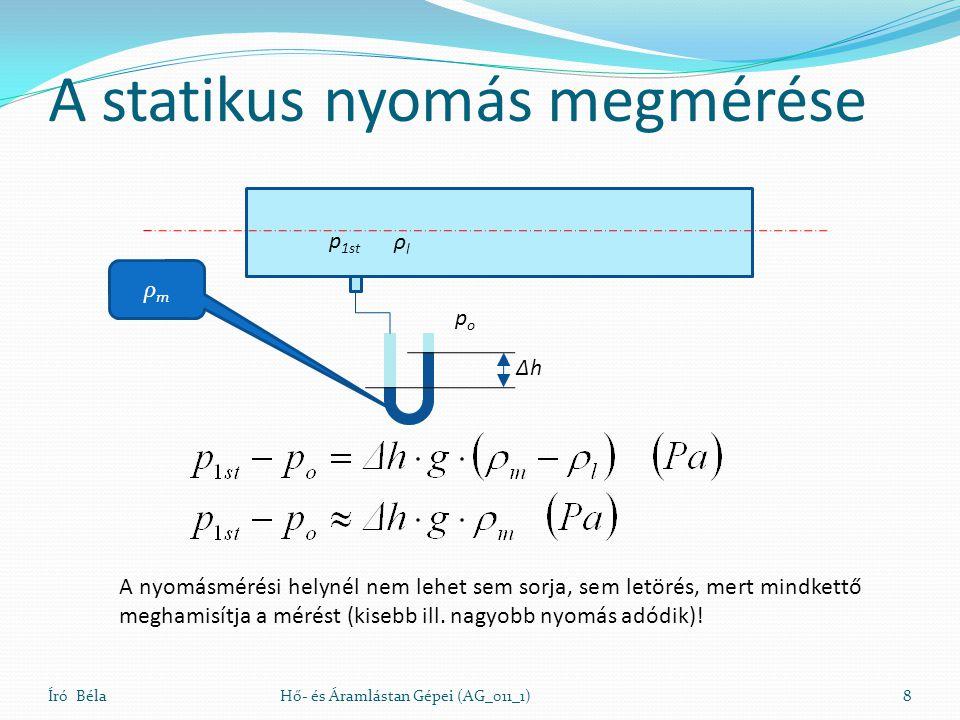 A statikus nyomás megmérése