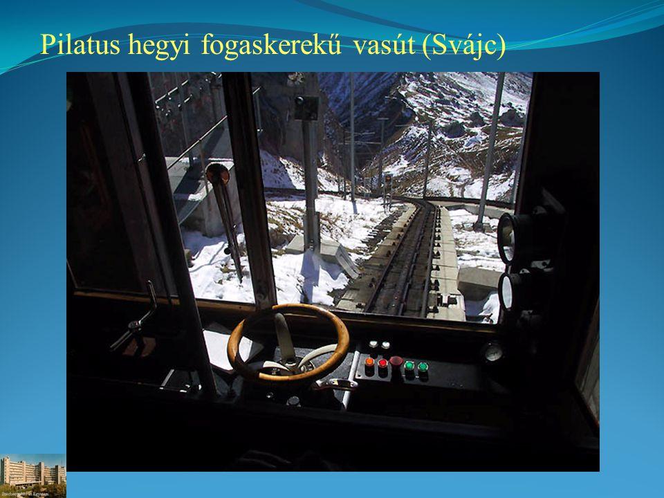 Pilatus hegyi fogaskerekű vasút (Svájc)