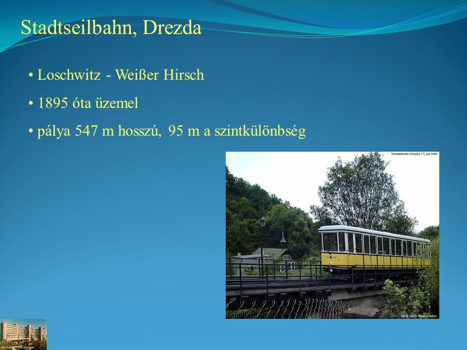 Stadtseilbahn, Drezda Loschwitz - Weißer Hirsch 1895 óta üzemel