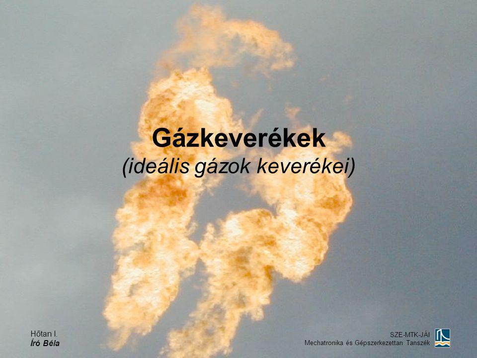 Gázkeverékek (ideális gázok keverékei)