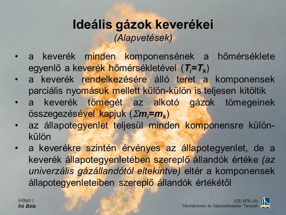 Ideális gázok keverékei (Alapvetések)