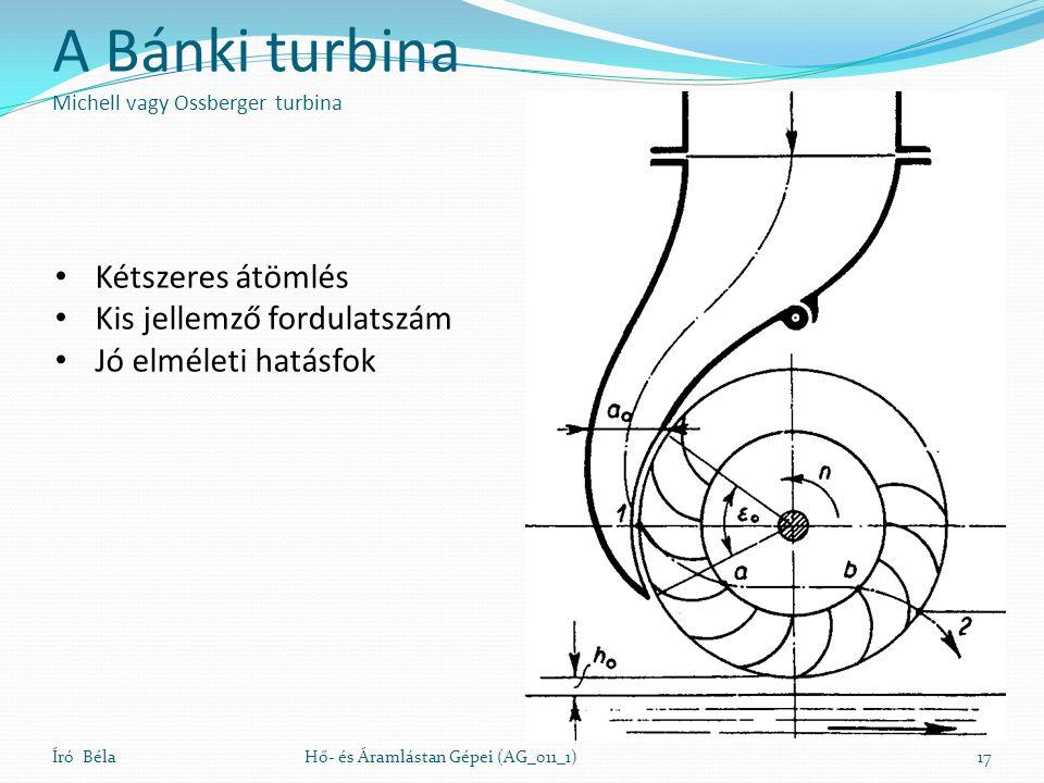 A Bánki turbina Michell vagy Ossberger turbina