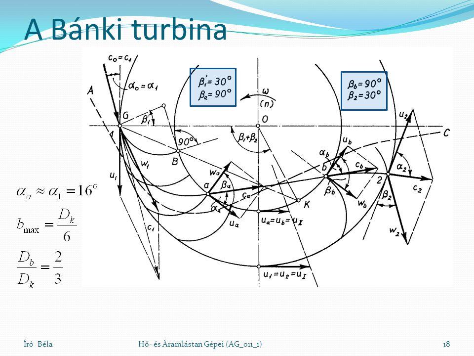 A Bánki turbina Író Béla Hő- és Áramlástan Gépei (AG_011_1)