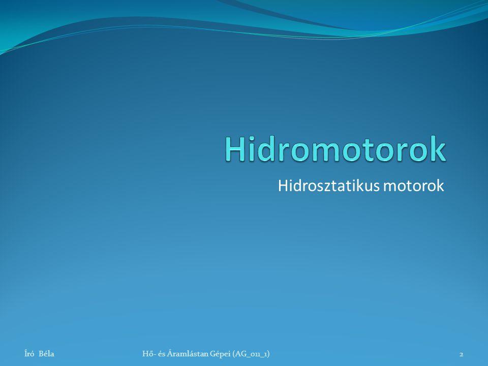 Hidrosztatikus motorok