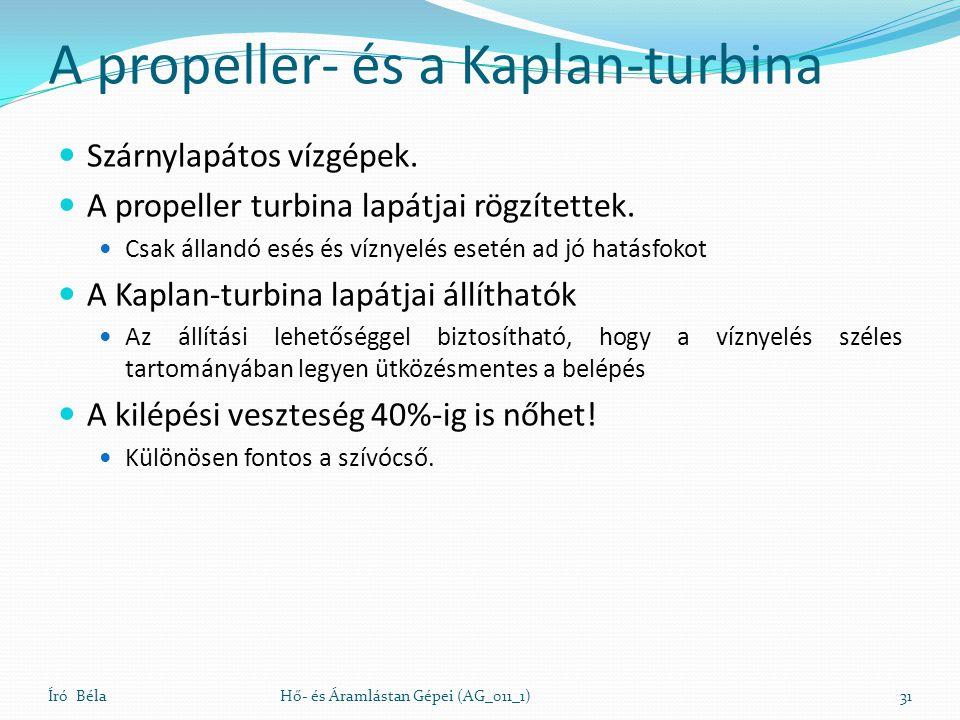 A propeller- és a Kaplan-turbina