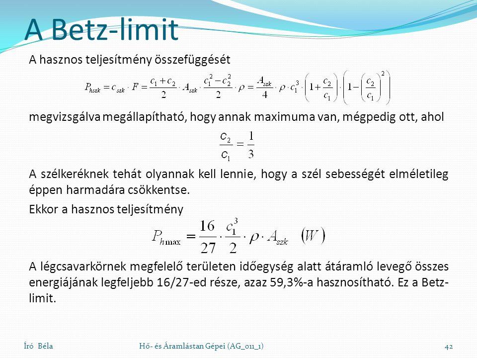 A Betz-limit