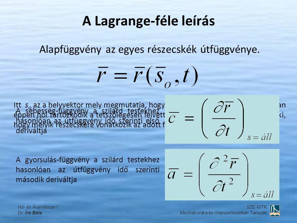 A Lagrange-féle leírás