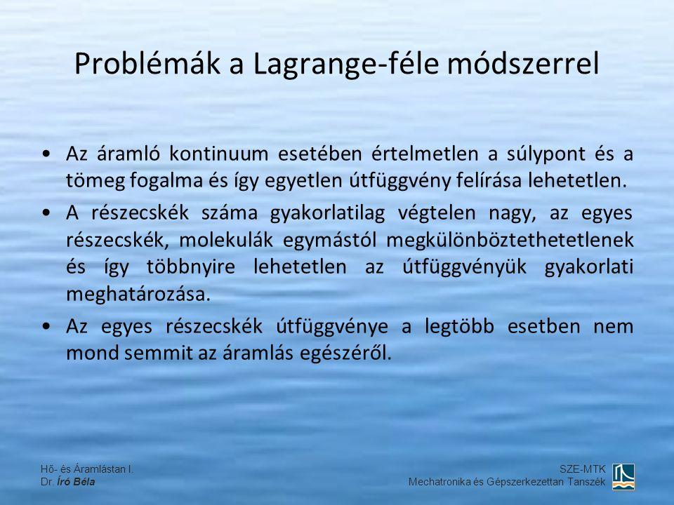 Problémák a Lagrange-féle módszerrel