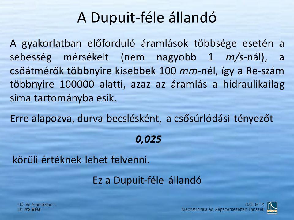 Ez a Dupuit-féle állandó