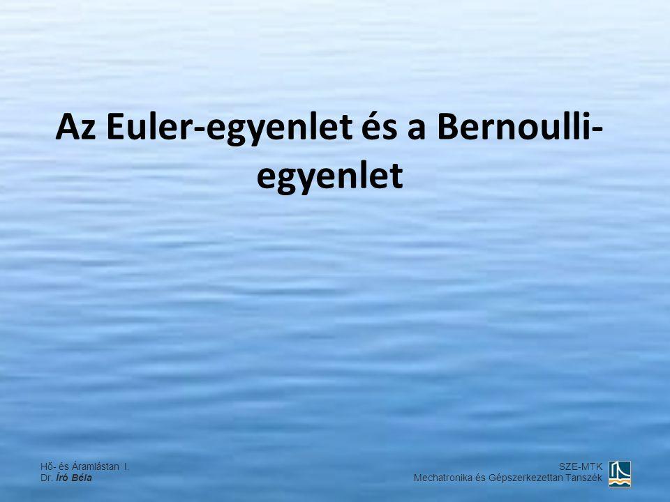 Az Euler-egyenlet és a Bernoulli-egyenlet