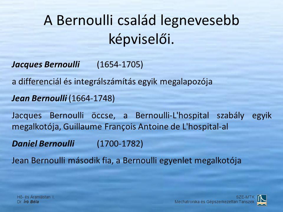 A Bernoulli család legnevesebb képviselői.