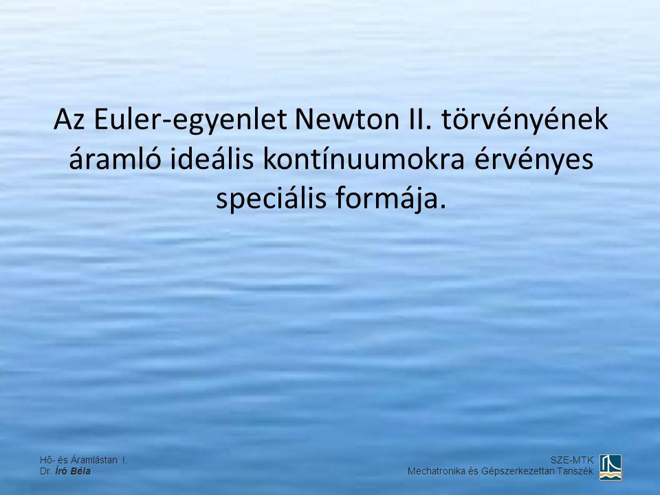 Az Euler-egyenlet Newton II