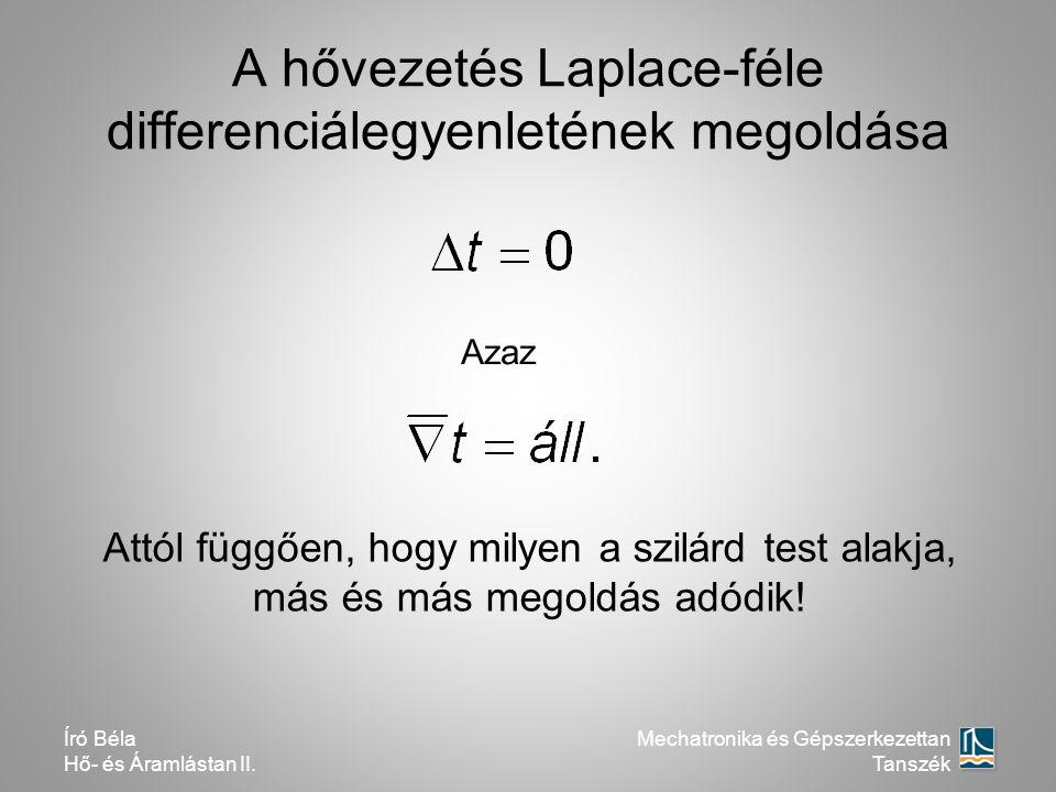 A hővezetés Laplace-féle differenciálegyenletének megoldása