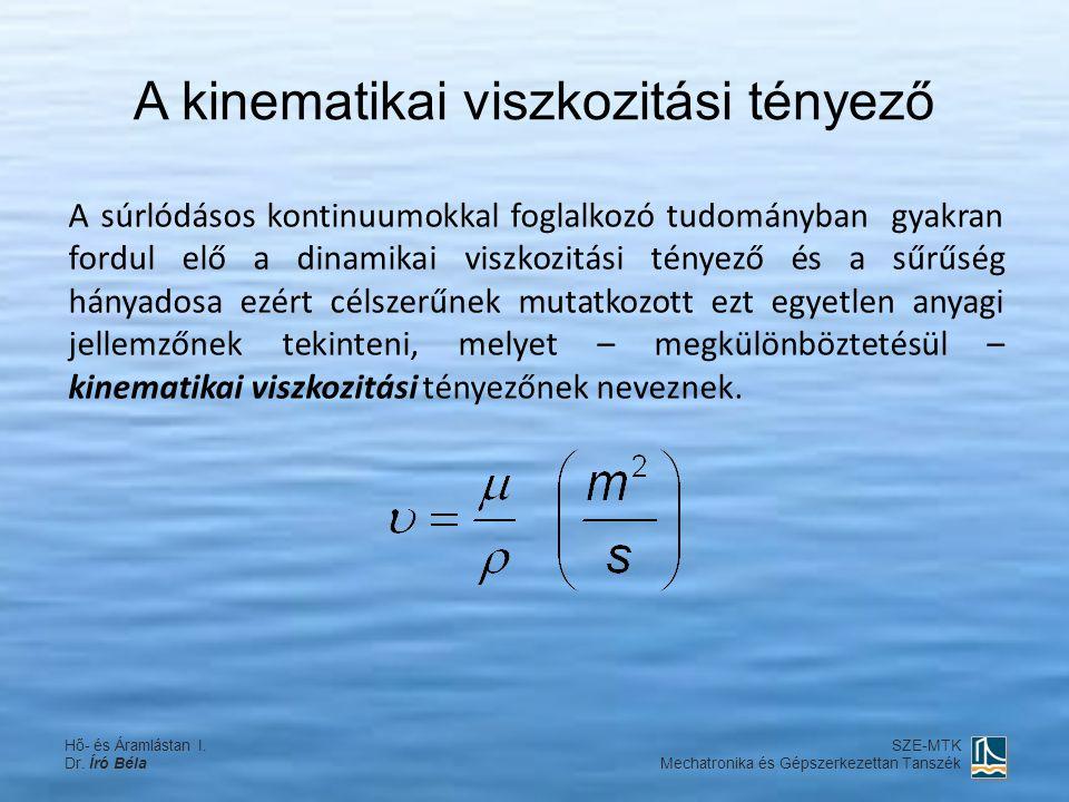 A kinematikai viszkozitási tényező