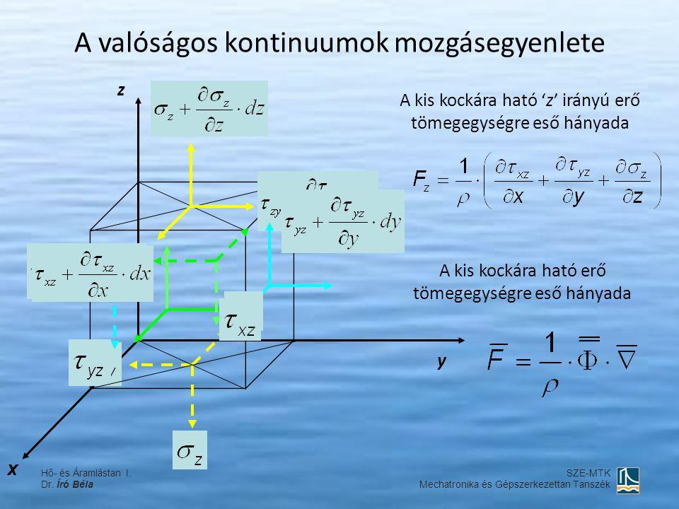 A valóságos kontinuumok mozgásegyenlete