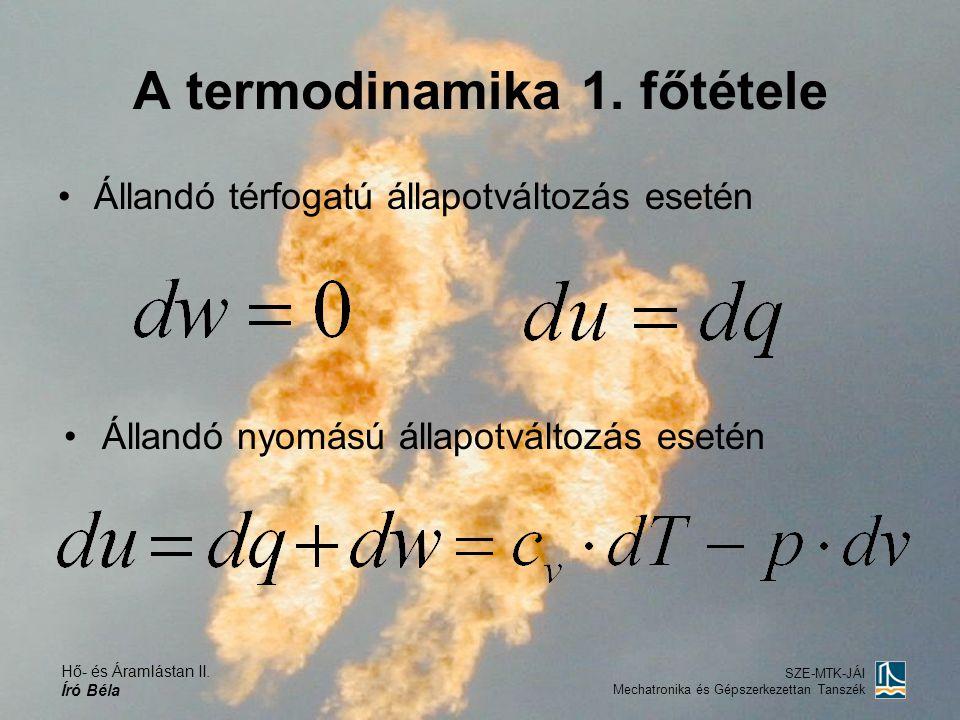 A termodinamika 1. főtétele