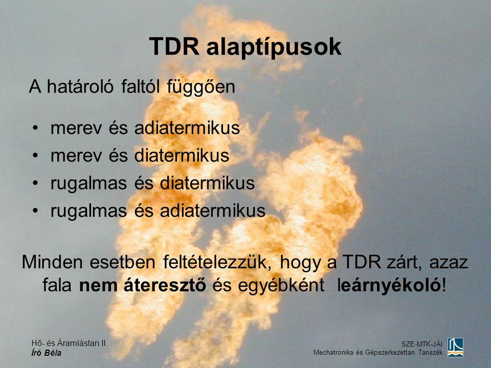 TDR alaptípusok A határoló faltól függően merev és adiatermikus