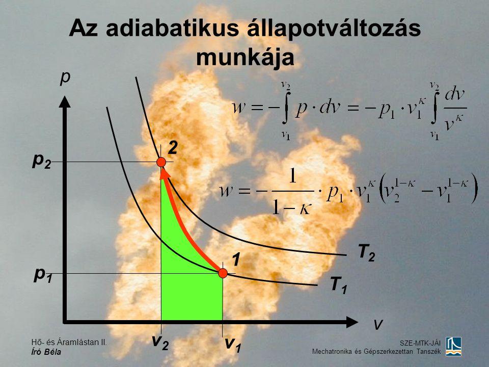 Az adiabatikus állapotváltozás munkája