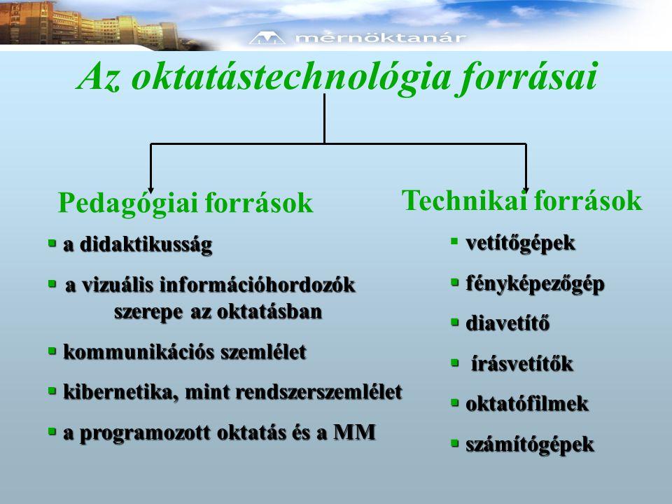 Az oktatástechnológia forrásai
