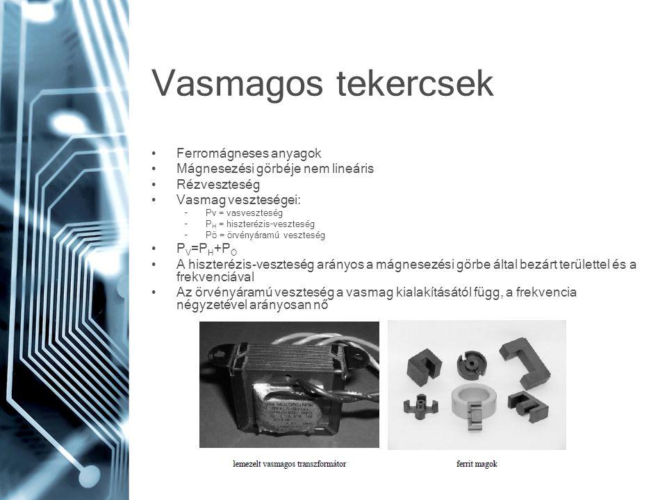 Vasmagos tekercsek Ferromágneses anyagok