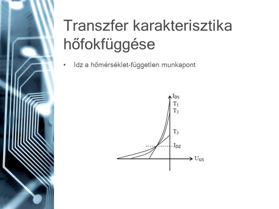 Transzfer karakterisztika hőfokfüggése