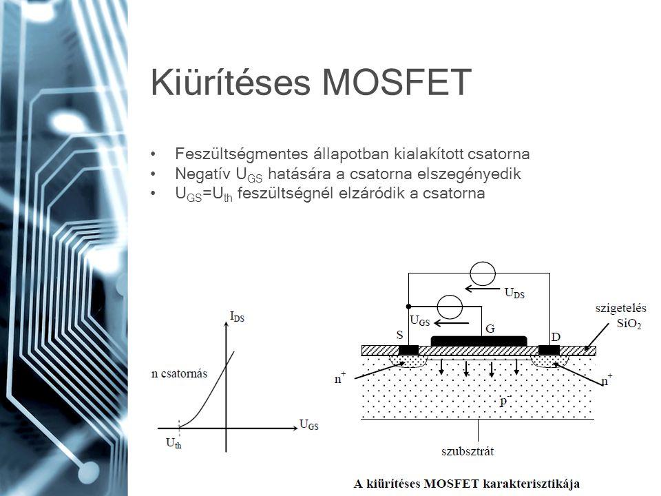 Kiürítéses MOSFET Feszültségmentes állapotban kialakított csatorna