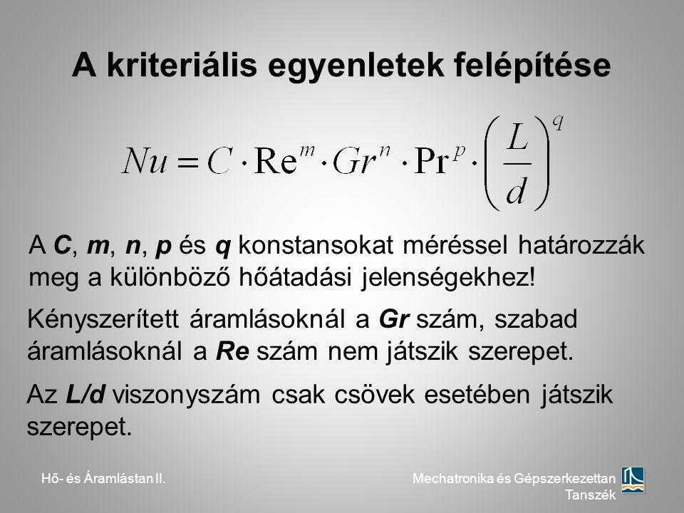 A kriteriális egyenletek felépítése