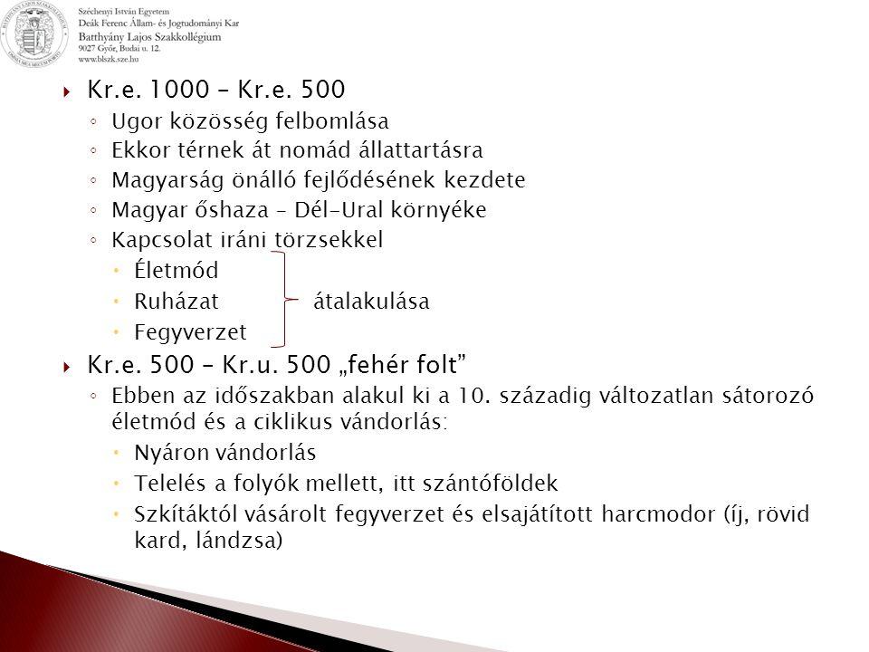 "Kr.e. 1000 – Kr.e. 500 Kr.e. 500 – Kr.u. 500 ""fehér folt"