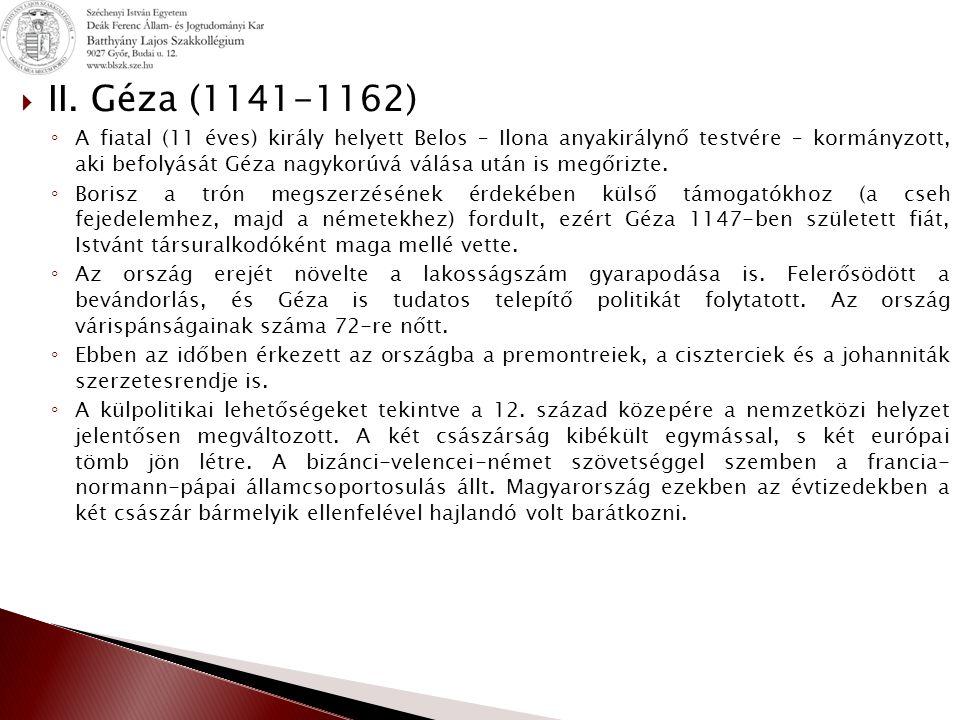 II. Géza (1141-1162)