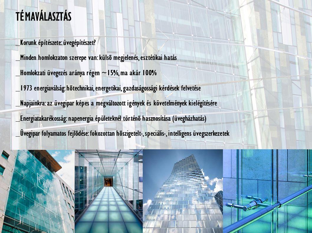 TÉMAVÁLASZTÁS _Korunk építészete: üvegépítészet